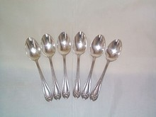 Silverplated Individual-Service Spoons, Set of 6
