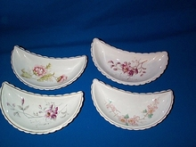 Victorian Bone Dishes, Set of 4,