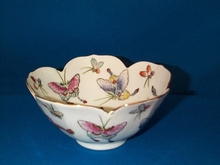 Japanese Porcelain Bowl, Lotus Shaped