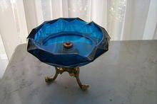 Cobalt Blue, Crystal Glass Compote