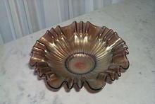 Amethyst Carnival Glass Bowl by Westmoreland