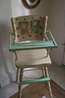 Doll's Wooden High Chair