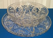 Early American Prescut Bowl & Platter
