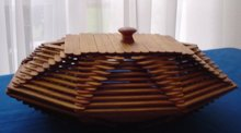 Folk Art Box Hand Made From Popsicle Sticks