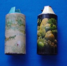 Set of 2, Cricket Table Lighter Canisters by Gillette Co.