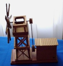 Working Windmill Music Box