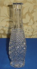 Pressed Glass Bud Vase, Wexford Pattern by Anchor Hocking Glass Co.