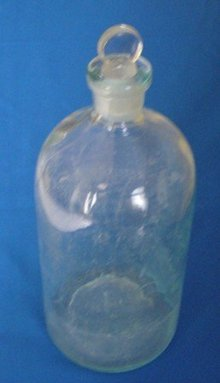 Apothecary Tooled Mouth Bottle with 2 1/2