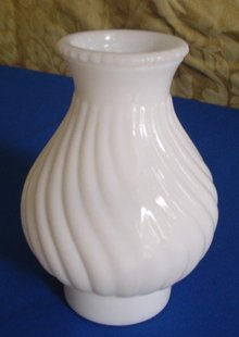Antique White Milk Glass Lamp Shade