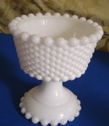 White Milk Glass Compote
