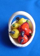 Miniature Porcelain Fruit Basket
