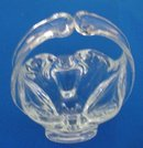 Hand Blown Glass Basket / Ash Tray