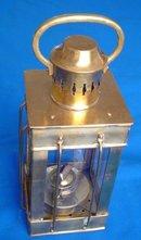 Hand-Crafted Brass Oil Lantern