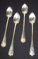 Silver Plated Ice Tea Spoons, Set of 4