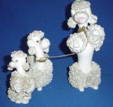 50s Poodle Figurines Set of Three
