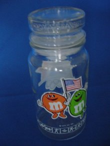 1984 Los Angeles  Olympic M&M Candy Container