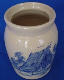 Stoneware Crock By P. R. Storie Pottery Co.