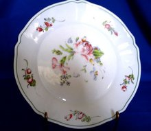 Hand Painted French Milk Glass Plate