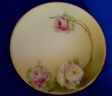 Hand Painted Prussian Porcelain Plate
