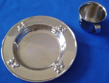 Plated Silver Cup and Plate Child's Set
