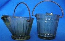 Miniature bucket Ashtrays, Set of 2