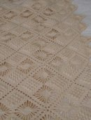 Antique Hand-Crocheted Cotton Coverlet