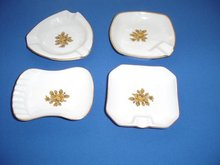 Limoges Individual China Ashtrays