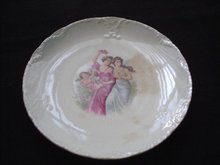 Early 20th Century Transfer Pattern Porcelain Plate.