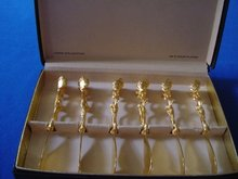 Janis Collection, 24K Gold Plated Hors D' Oeuvres Knife Set