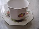 Hand Painted English Porcelain Planter by Johnson Brothers.