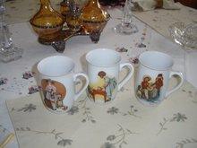 Norman Rockwell Porcelain Mugs, Set of 3