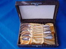 Demitasse Spoon Set In Original Box, Set of 6