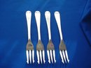 English Plated Silver Hors d'oeuvre Serving Forks,  Set of 4