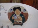 Hand Painted Gladstone Pottery Museum Numbered Decorative Plate By Davenport Pottery Co.