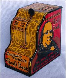 Marx BENJAMIN FRANKLIN THRIFT BANK - Metalware