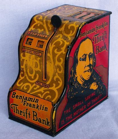 Marx BENJAMIN FRANKLIN THRIFT BANK - Metalware