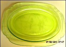 Parrot Depression Glass Platter - Glass