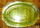 Parrot Depression Glass Platter - Glass