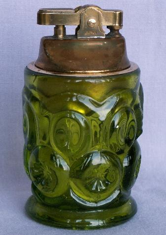 MOON & STARS Green Glass Lighter
