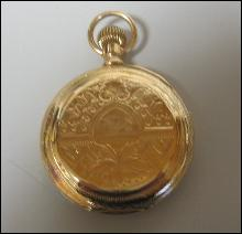 14k Gold WALTHAM POCKET WATCH with Massive Hunter Case Size 16 Antique - Estate Jewelry