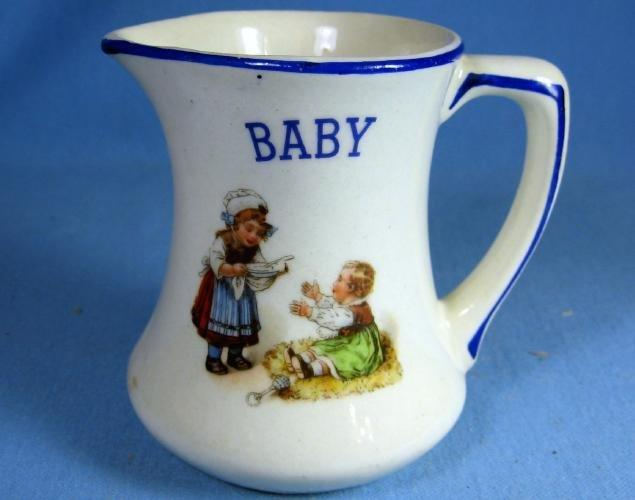 Czech Pottery BABY Nursery Rhyme Milk  Pitcher