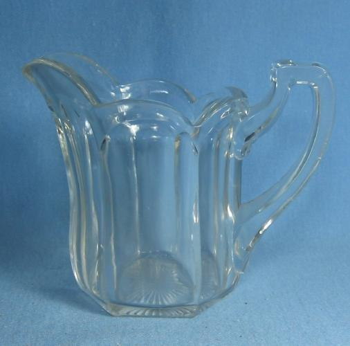 old vintage McKee PRES CUT Creamer Pitcher - Antique Clear Glass