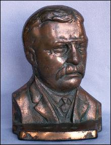 One TEDDY ROOSEVELT Cast Iron Bookend - Metalware