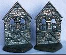Cast Iron THE BELFRY Bookends - Metalware