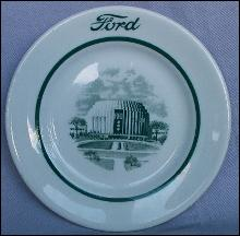 Ford ROTUNDA BUILDING Ceramic Advertising Plate