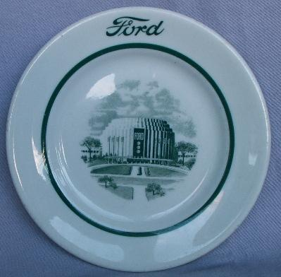 Ford ROTUNDA BUILDING Ceramic Advertising Plate