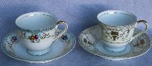 Two Sets of Porcelain OCCUPIED JAPAN Cups & Saucers
