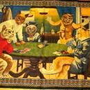 Cats Playing Poker DRINKING smoking Betting TAPESTRY