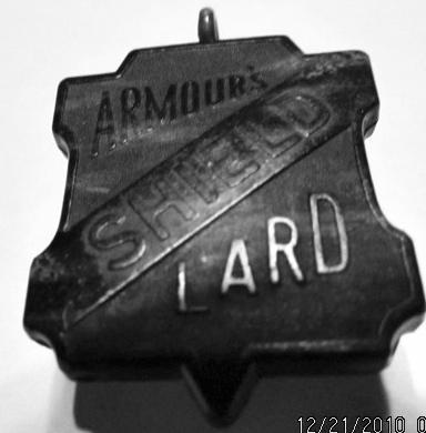 Bakelite Armor's Shield Lard Watch Fob