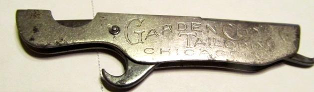 Cigar Cutter Garden City Screw Driver Opener - Metalware